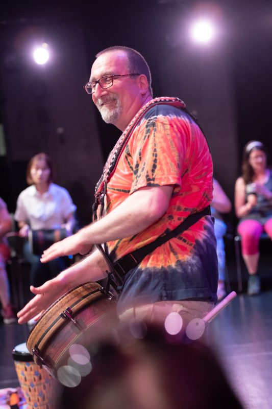 Drum Circle, LSPU Hall, Sunday July 8 2018-9510